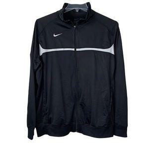 Nike track jacket men's XL black full zip close